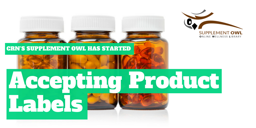 CRN's Supplement OWL Has Started Accepting Product Labels