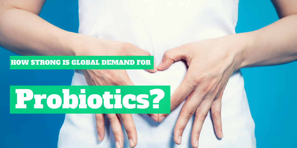 How strong is the global demand for probiotics?