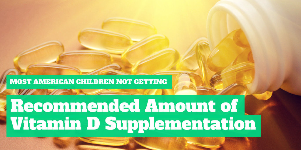 Most American Children Not Getting Recommended Amount of Vitamin D Supplementation