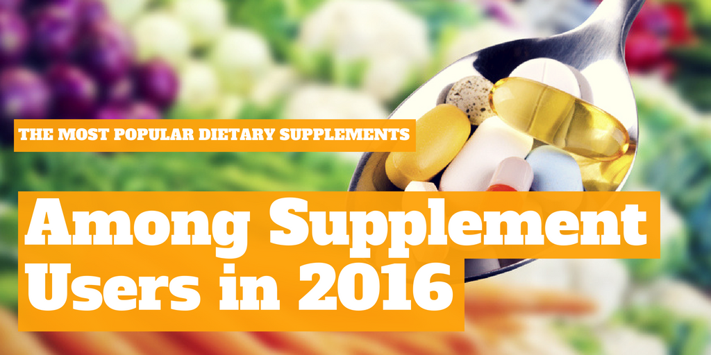 Top Supplement Types (According To Supplement Users) in 2016 [INFOGRAPHIC]