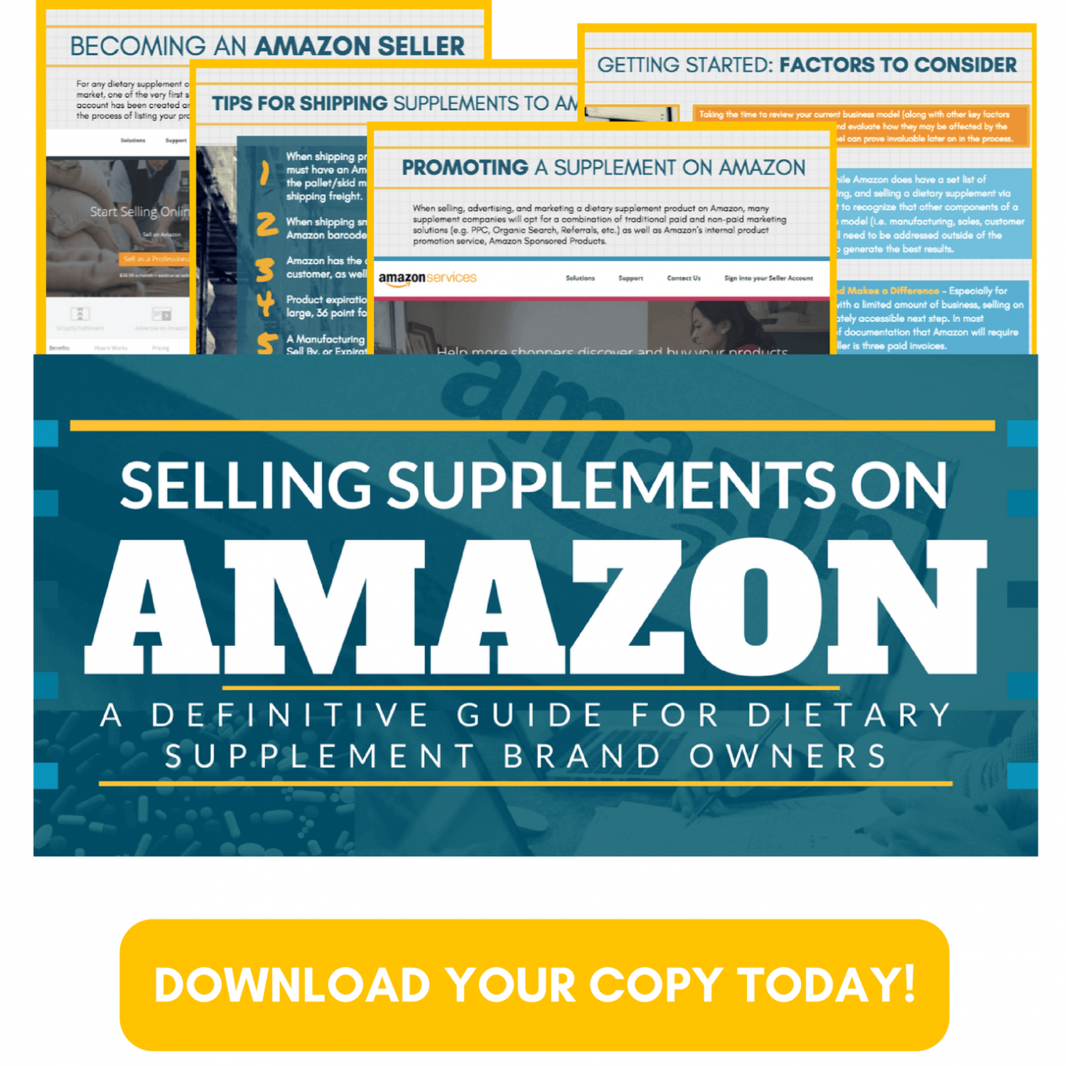 Download Your Copy of 'The Definitive Guide to Selling Supplements on Amazon' Today!