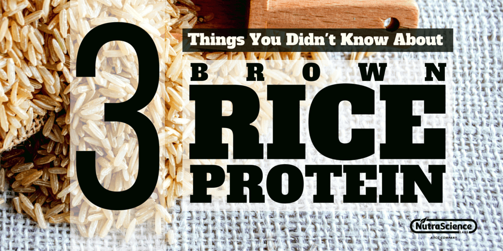 3 Things You Didn't Know About Brown Rice Protein