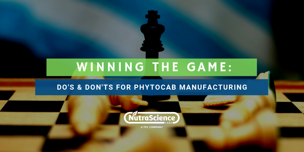 Do's & Don'ts for Phytocannabinoid Manufacturing
