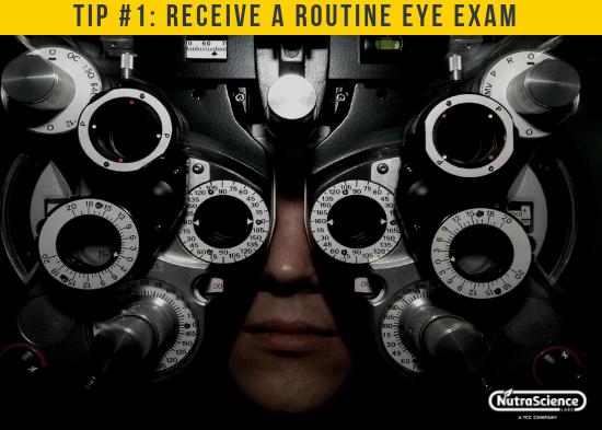 Receive a Routine Eye Exam