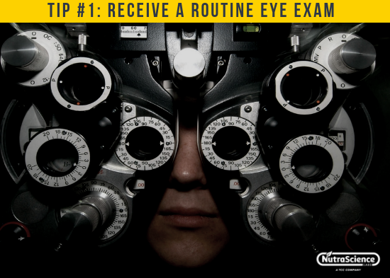 Receive a Routine Eye Exam