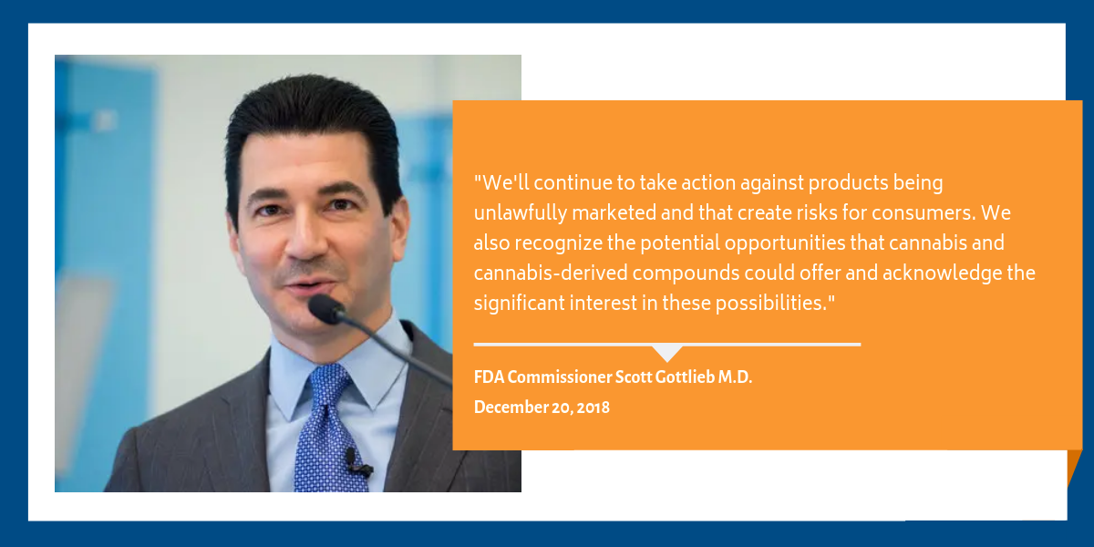 Scott Gottlieb CBD Quote