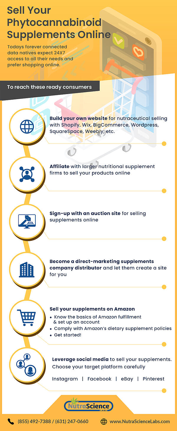 Selling CBD Supplements Online Infographic