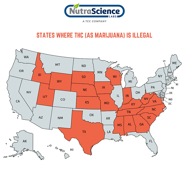 States where THC is illegal