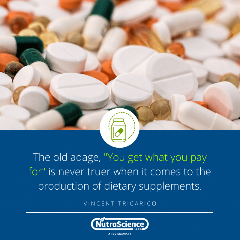 Quote for New Dietary Supplement Brand Owners
