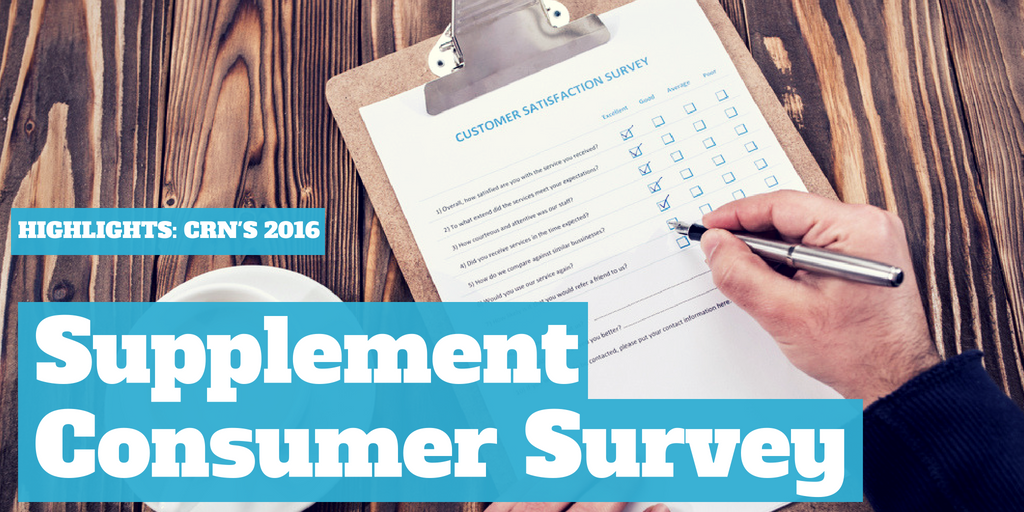 Highlights: CRN's 2016 Supplement Consumer Survey