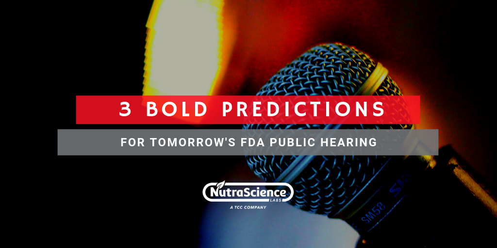 3 Bold Predictions for Tomorrow's FDA Public Hearing