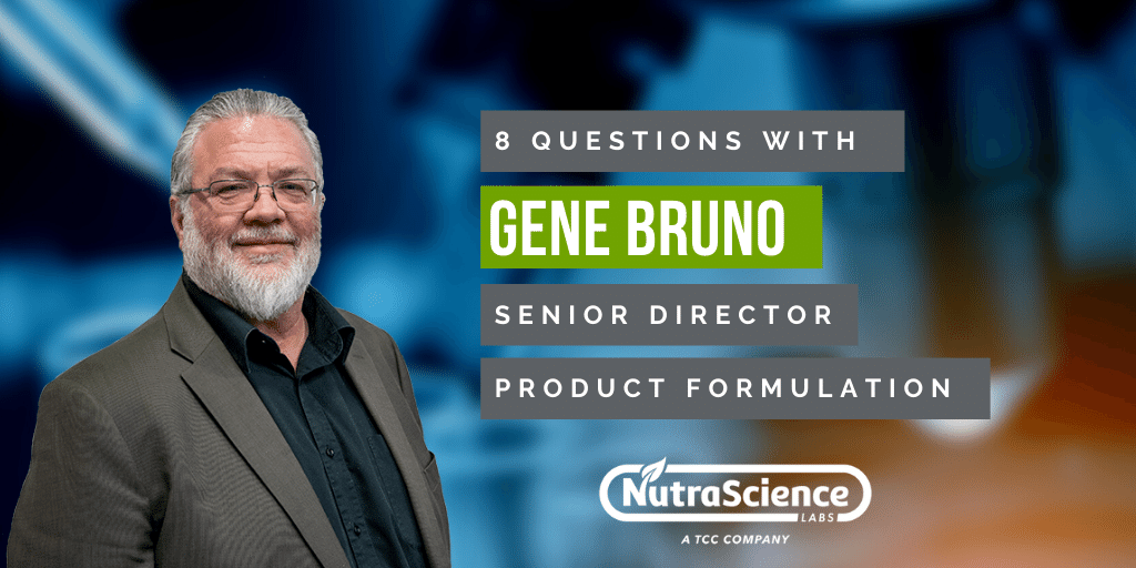 NutraScience Labs Employee Spotlight - 8 Questions with Gene Bruno