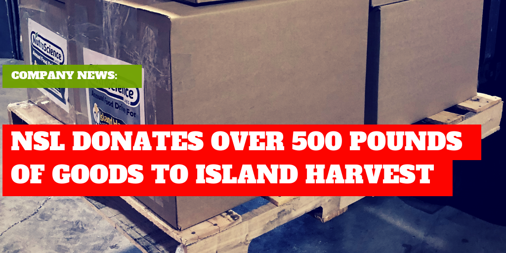 NutraScience Labs Donates Over 500 Pounds of Non-Perishables to Island Harvest