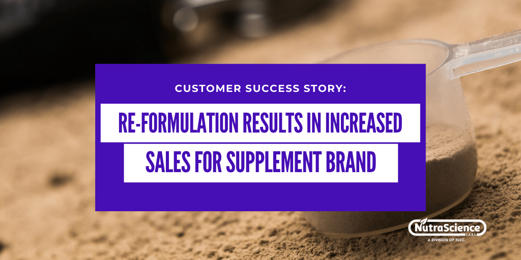 Re-formulation Results in Increased Sales for Sports Nutrition Supplement Brand
